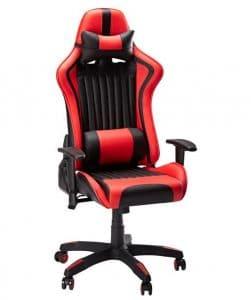Fauteuil gaming SLYPNOS rouge et noir
