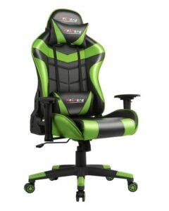 Chaise de jeu Heipard noire et verte